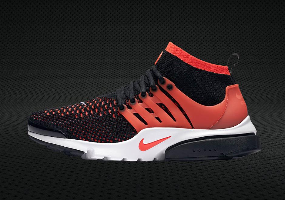 "ba94d63f25db Nike Flyknit Presto Mid ""Bright Crimson"""