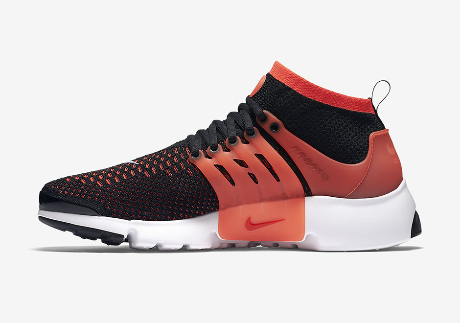 Nike Air Presto Ultra Flyknit. Color: Black/Bright Crimson-White