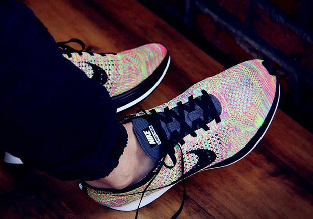 """6175b1dfd36 The Nike Flyknit Racer """"Multi-Color"""" Returns With A New Grey Tongue"""