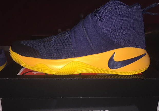 "best loved 445bb 60cd4 ... Nike Kyrie 2 ""Cavs"". Color Midnight Navy Midnight Navy-University Gold  Style ..."