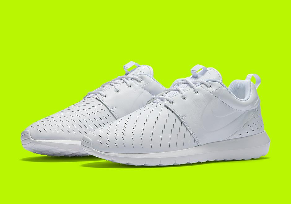 sports shoes a4a17 1e426 Nike Roshe Run NM Laser Triple White 833126-111   SneakerNews.com