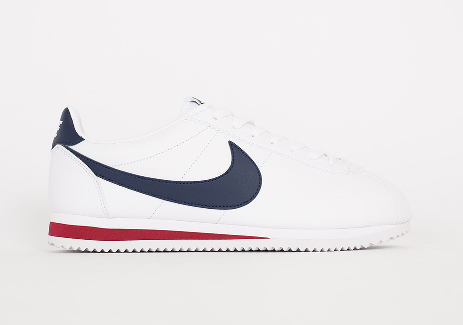 blue and white nike cortez