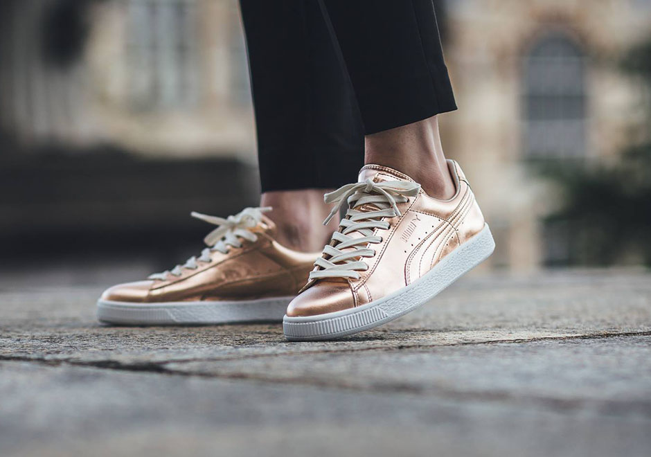 puma metallic rose gold