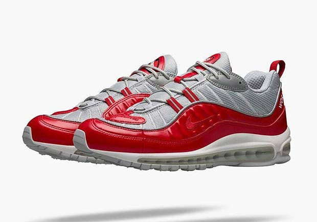 brand new 50b13 bcfde All Four Supreme x Nike Air Max 98 Colors Releasing At ...