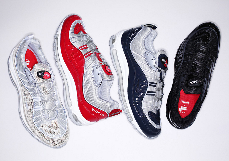 premium selection 6c362 3163c Supreme Air Max 98 Release Date | SneakerNews.com