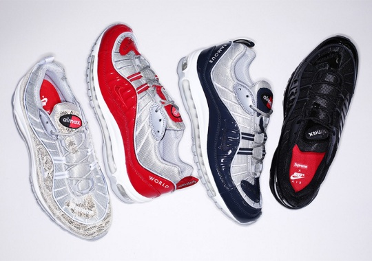 save off b8ae5 51943 Supreme x Nike Air Max 98 - Release Details | SneakerNews.com
