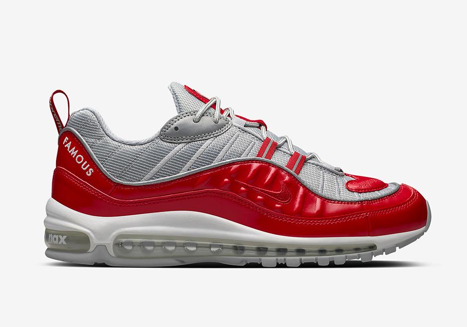 "Supreme x Nike Air Max 98 ""Navy"". Style Code: 844694-400"