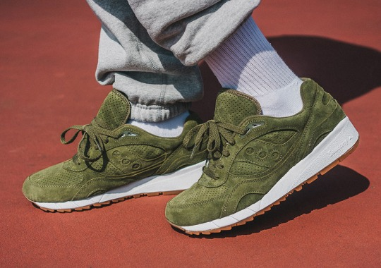Saucony Drops Another Premium Shadow 6000 In Olive Suede