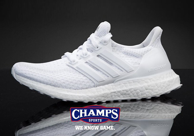 cec982f883747 Look for White Ultra Boosts in kids sizes at your local Champs Sports  starting today.