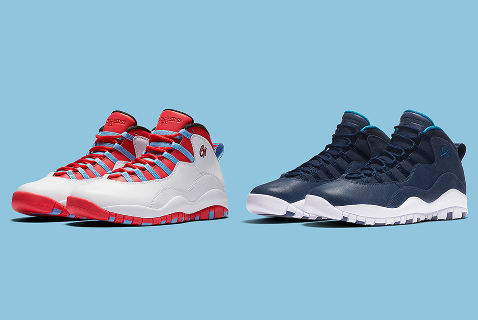 The Air Jordan 10's City Pack celebration is a bit different this year than it was back in 1994 95. Instead of referencing the original cities like Seattle,