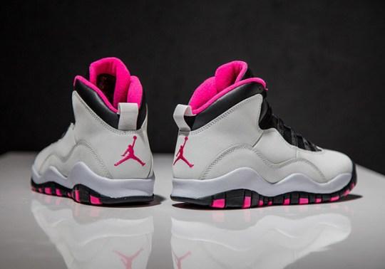 The Air Jordan 10 Retro Welcomes Pink Tones For Girls