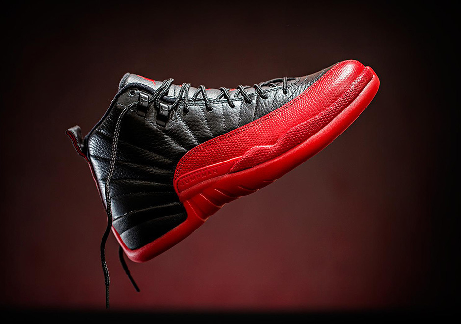 Air Jordan 12 Retro Flu Game Black Red  shoes