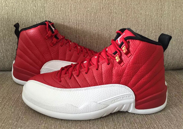 "Air Jordan 12 ""Gym Red"". Color: Gym Red/Black-White Style Code: 130690-600.  Release Date: July 2, 2016. Price: $190"