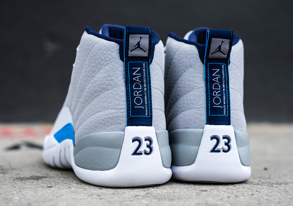 newest c9e64 bc3b8 Air Jordan 12 Retro. Color: Wolf Grey/University Blue-White-Midnight Navy