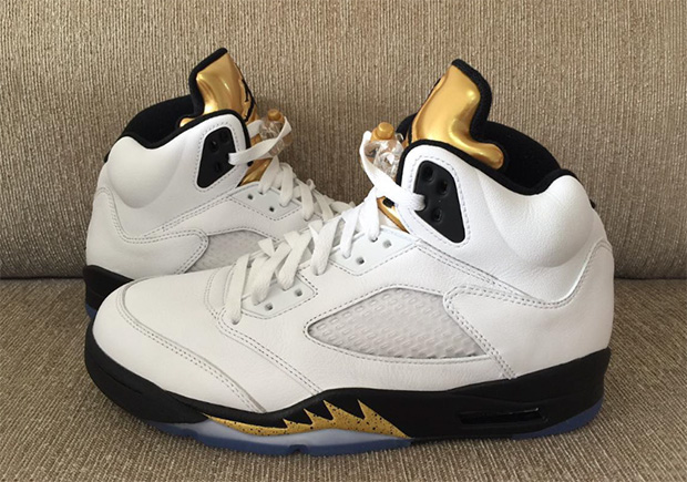 super popular a84bb e5bab Jordan 5 Gold Tongue Olympic 136027-133   SneakerNews.com