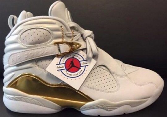 """Best Look Yet Of The Air Jordan 8 """"Cigar And Champagne"""""""