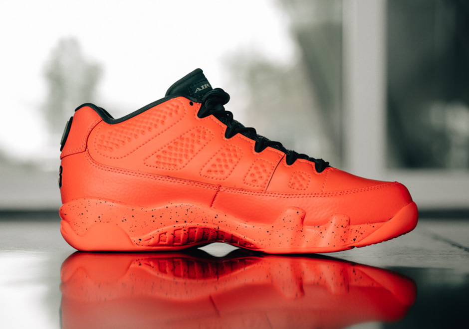 uk availability bb730 39194 ... promo code for air jordan 9 retro low. color bright mango ghost green  hasta style
