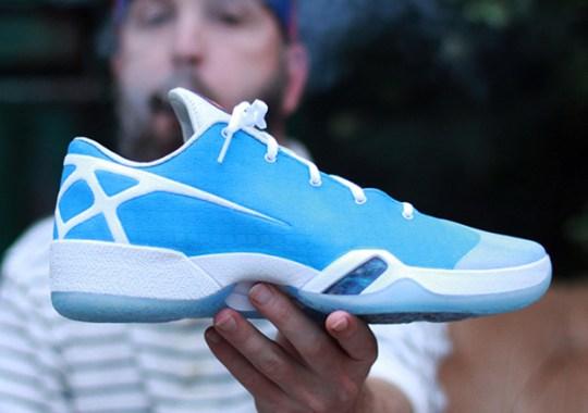 """Dank Customs Converts The Air Jordan XXX Into a Low-Top """"UNC"""" Colorway"""