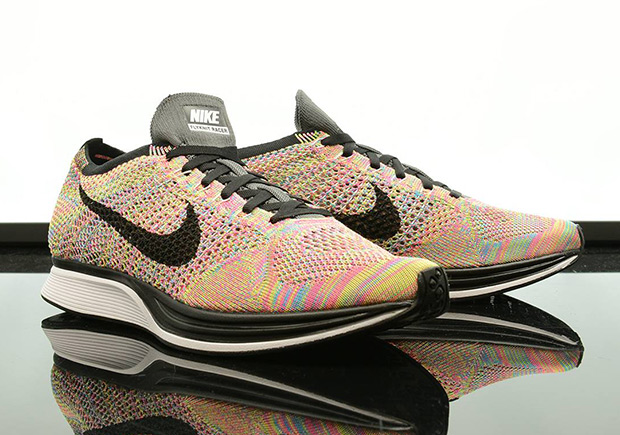 "online store e5184 31bff The Nike Flyknit Racer ""Multi-color"" Just Restocked"
