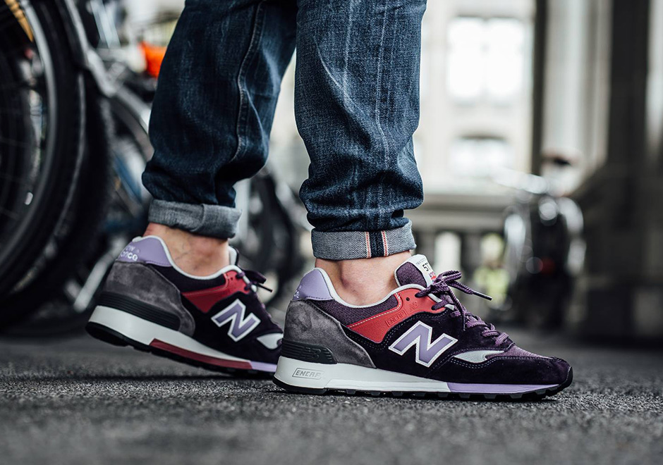 The New Balance 577 with its Made in England quality is back again this  spring in two new impressive colorways. The popular silhouette of the  UK-made range ... 2104dcff7107