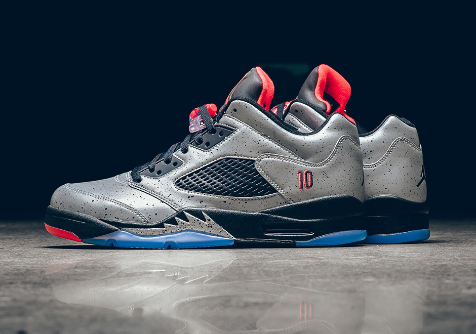 "0fe5f30fec9a5 Air Jordan 5 Low ""Neymar"". Color: Reflect Silver/Infrared 23-Black Style  Code: 846315-025"