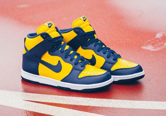 "Nike Brings Back ""Michigan"" Dunk Highs"