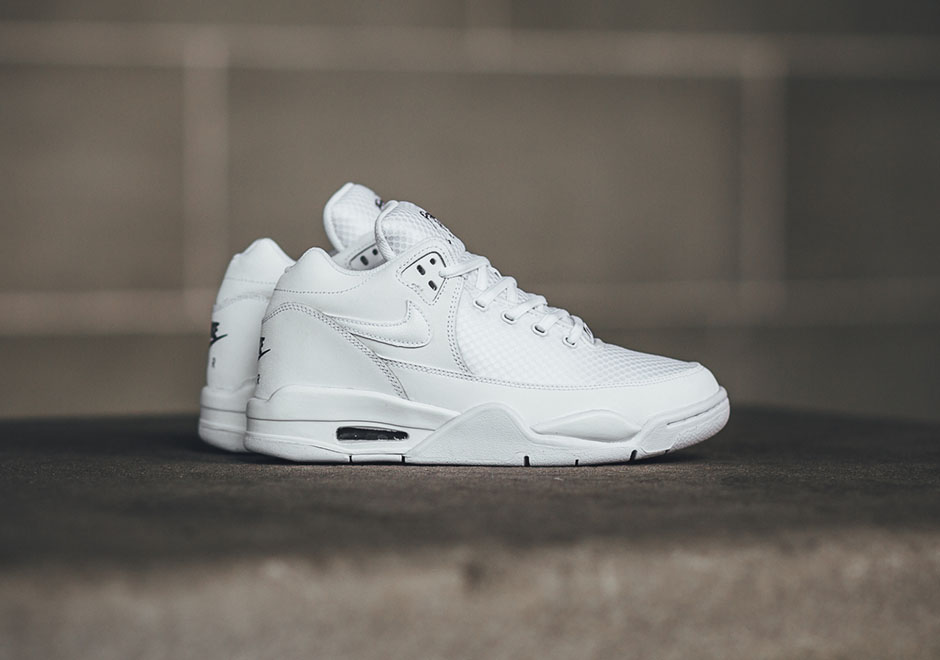 new style c8bb4 d4e7a Nikes Late 80s Remix Called The Flight Squad Is Back In All-White