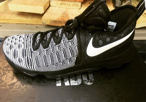 """4f36337bb59c Nike KD 9 """"Mic Drop"""". Color  Black Black-White Style Code  843392-010.  Release Date  July 9th"""