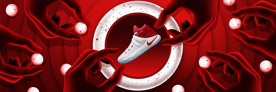 Nike Air Force 1 Bajo Blanco / Rojo Universidad-gym Kyrie Roja 2 0wmCF