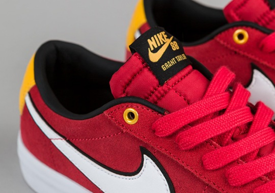 Grant Taylor's Nike SB Blazer Low In University Red And Yellow