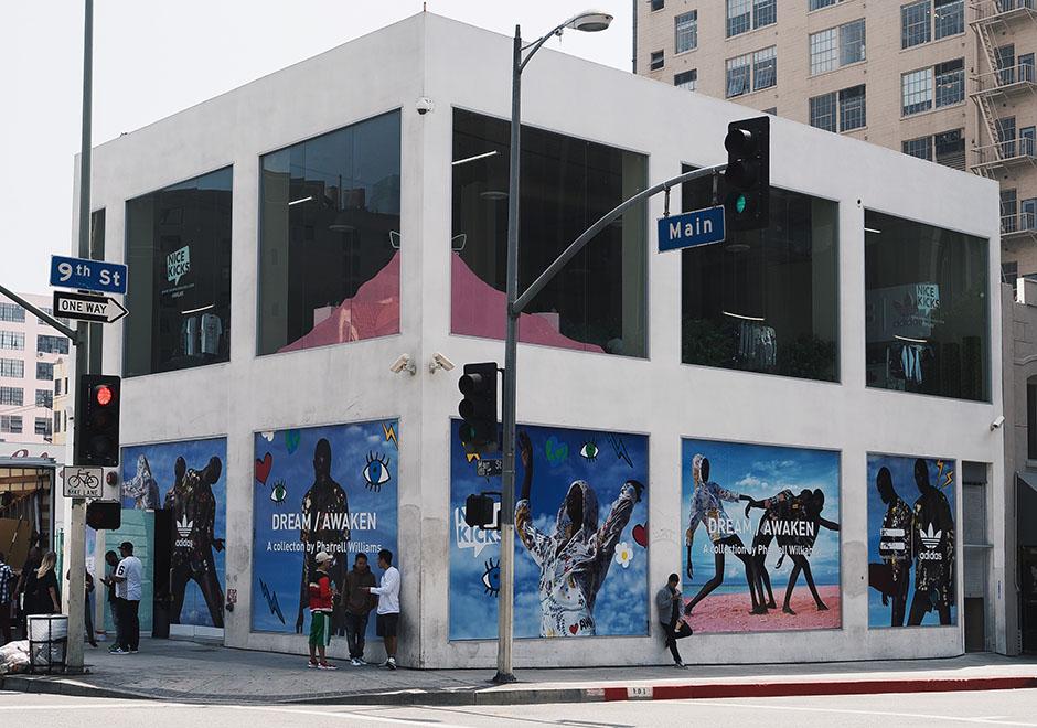 2cc6a76e229c Pharrell and adidas Originals Host Pink Beach Pop-Up Shop Today In ...