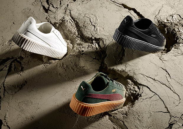 Rihanna and PUMA come creeping in this summer with three new colorways to  her hit lifestyle sneaker. Ri-Ri s Puma Creepers eaa7021a03