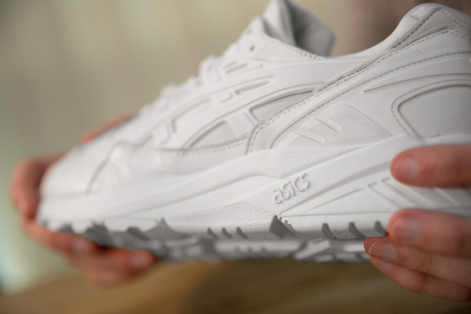 all white leather asics