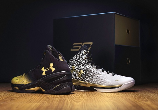 "Steph Curry Celebrates Two MVPs With UA Curry ""Back To Back"" Pack"