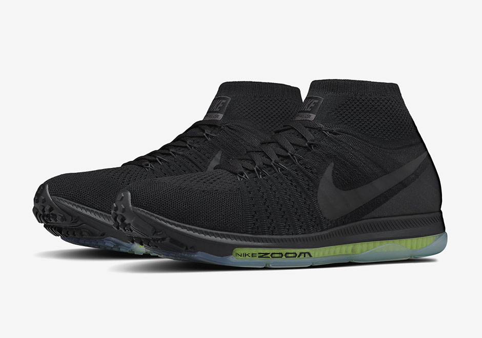 Nike Zoom All Out Flyknit Black Volt 844134 001