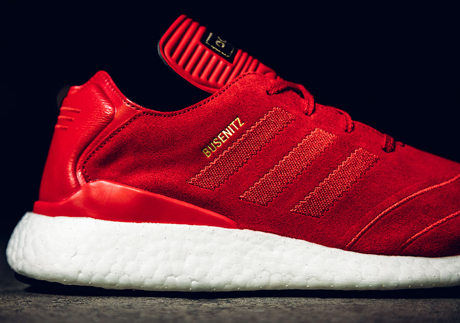 43de8928647 The adidas Busenitz Pure Boost Is Back In Red Suede