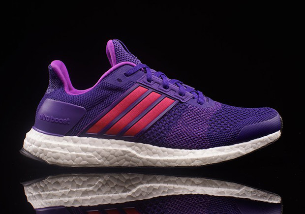 778dbf457 ... purple Primeknit with bright red accents and a lighter purple inner  lining. The ladies can grab their pair now at adidas Running retailers like  Oneness.