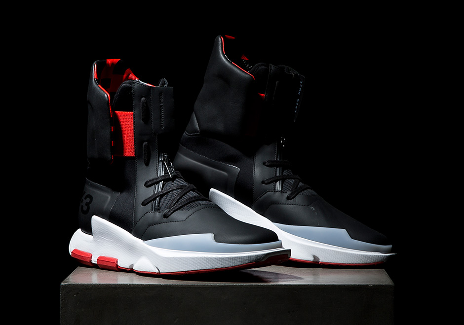 Black And Red Adidas High Top Shoes