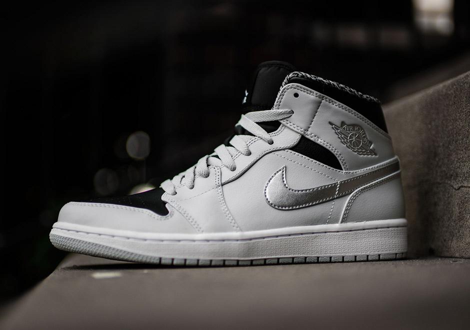 Nike Air Jordan 1 Mediados Enfriar Gris / Negro / Blanco KWFVznOSV6