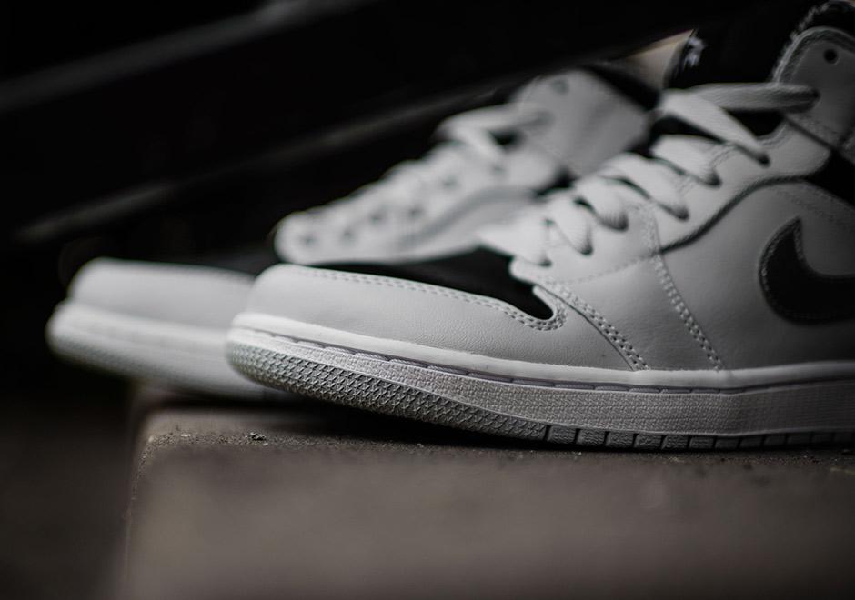 new product 7b013 f51d2 Air Jordan 1 Mid Wolf Grey 554724-032   SneakerNews.com
