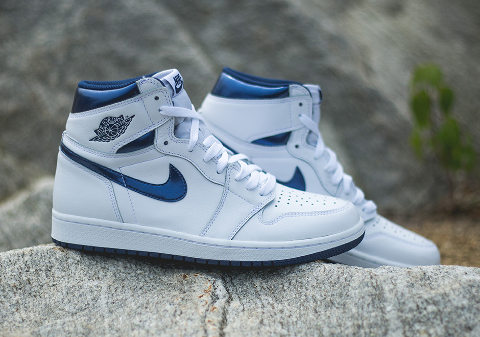 San Francisco Całkiem nowy unikalny design Air Jordan 1 High Metallic Navy 555088-106 | SneakerNews.com