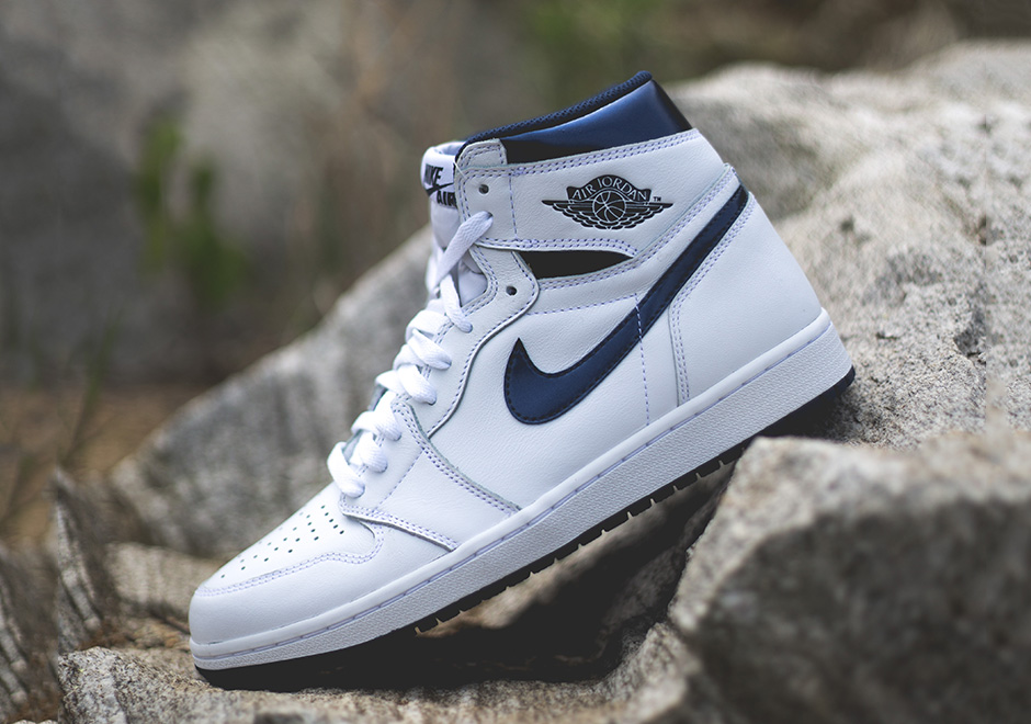 "2332d4bc8616 AIR JORDAN 1 HIGH OG ""Metallic Navy"". Color  White Metallic Navy Style  Code  555088-106. Release Date  6 4 2016. Price   160"