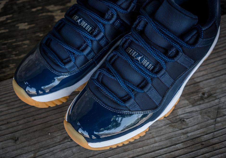 Nike Air Jordan 11 Retro Lav Navy Tannkjøtt 98fRTvt