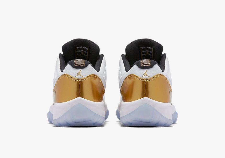 "1d0fee144dfc Air Jordan 11 Low ""Closing Ceremony"". Color  White Metallic Gold ..."