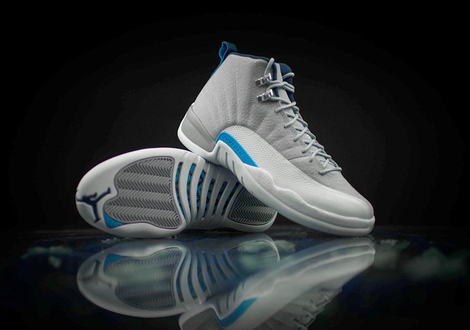 new style d0e9f 45ea2 Air Jordan 12 Retro. Color  Wolf Grey University Blue-White