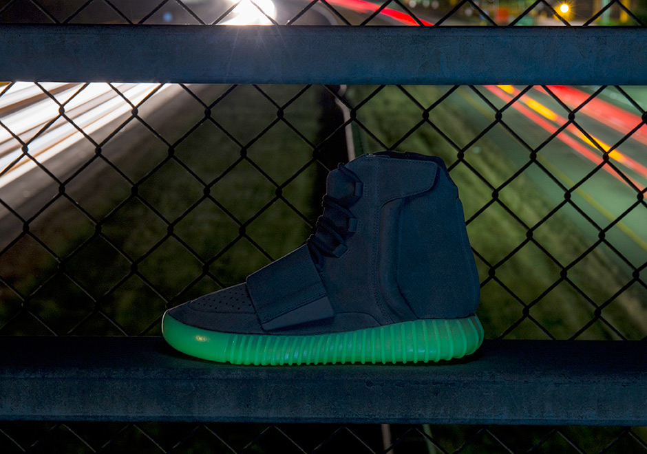 "5059e67a139647 ADIDAS YEEZY 750 BOOST ""GLOW IN THE DARK"". Color  Light Grey Light Grey-Gum  Style Code  BB1840 Release Date  June 11th"