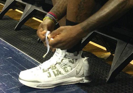 LeBron James Laces Up Yet Another Older Nike LeBron Model For Finals Practice