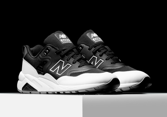 """The Re-engineered New Balance 580 Gets A """"Tuxedo"""" Colorway"""