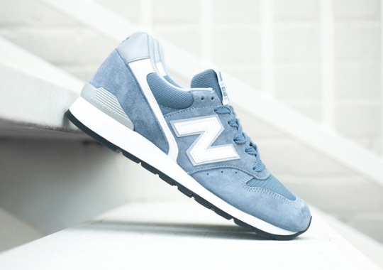 Soft Blue Suedes Arrive On The New Balance 996 Made In USA