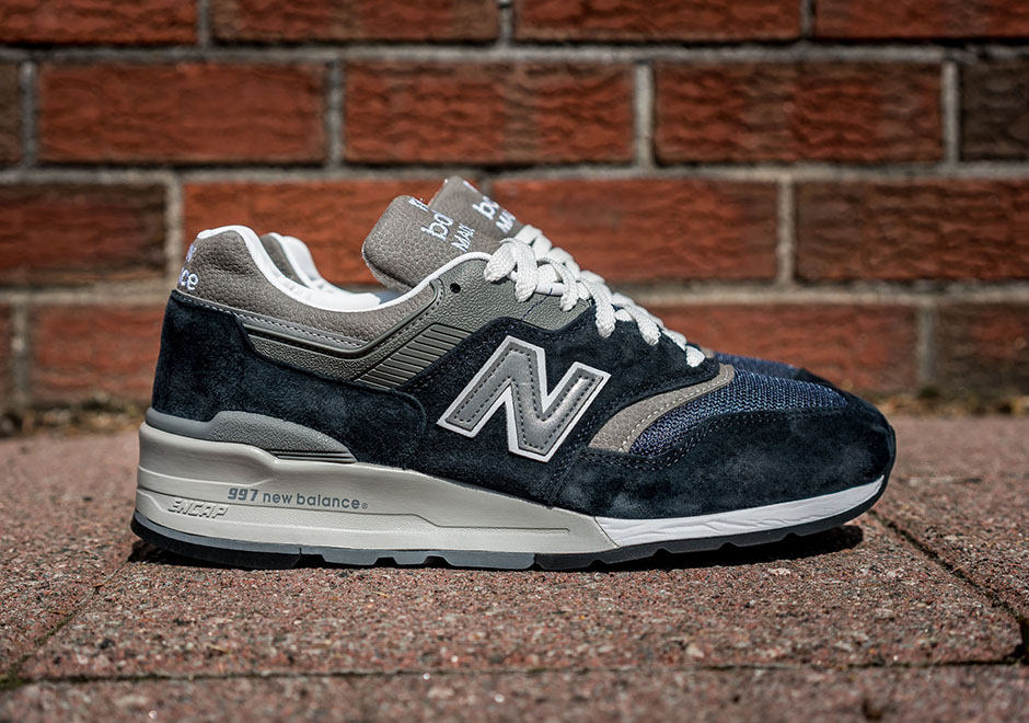 the best attitude 7524d 47f8a New Balance 997 Made In USA Returns In Navy Blue ...